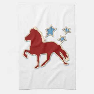 Paño De Cocina Estrellas festivas del caballo islandés