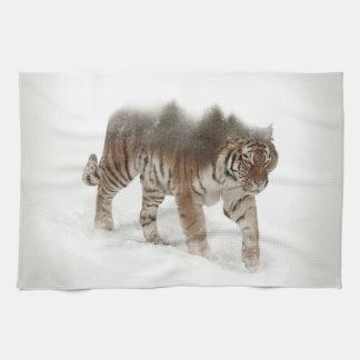 Paño De Cocina Exposición-fauna tigre-Tigre-doble siberiana