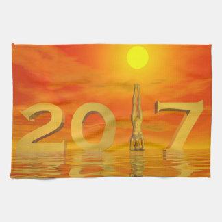 Paño De Cocina Feliz Año Nuevo 2017 del zen - 3D rinden