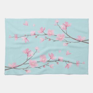 Paño De Cocina Flor de cerezo - azul de cielo