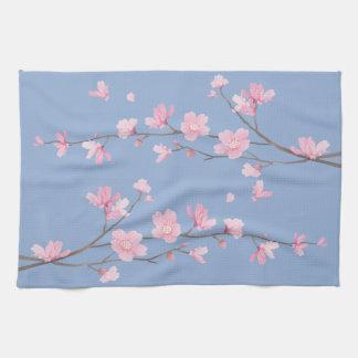 Paño De Cocina Flor de cerezo - azul de la serenidad