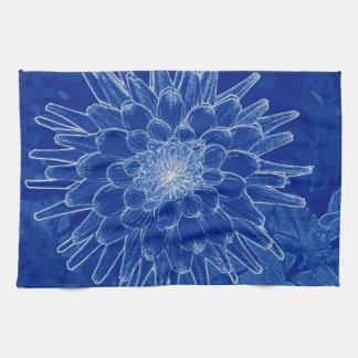 Paño De Cocina flor en azul