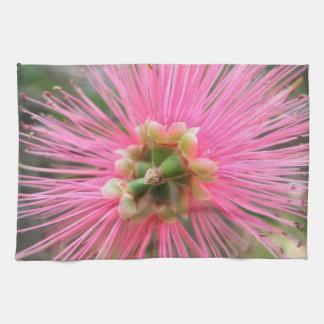 Paño De Cocina Flor rosada del árbol de goma