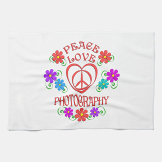 Paño De Cocina Fotografía del amor de la paz