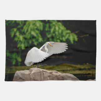 Paño De Cocina Gran Egret