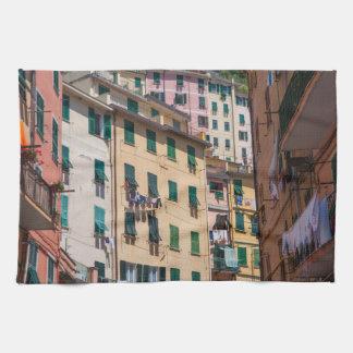 Paño De Cocina Hogares coloridos en Cinque Terre Italia