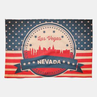 Paño De Cocina Horizonte retro de Las Vegas Nevada