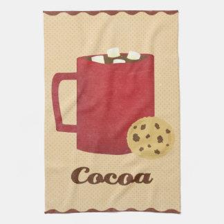 Paño De Cocina Ilustracion del chocolate caliente