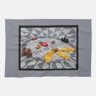 Paño De Cocina Imagínese la placa del Central Park NYC de