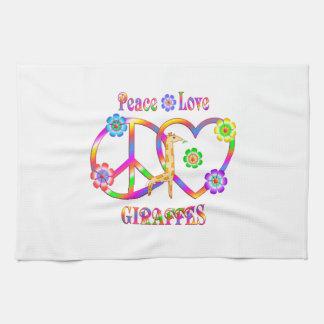 Paño De Cocina Jirafas del amor de la paz