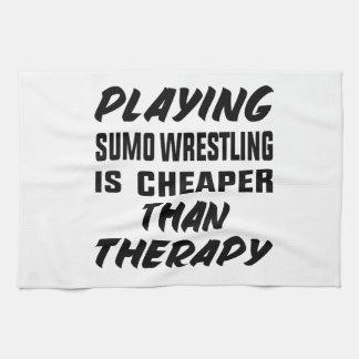 Paño De Cocina Jugar la lucha de sumo es más barato que terapia