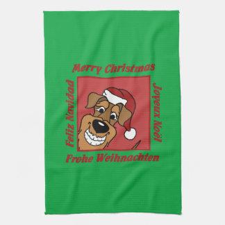 Paño De Cocina La Airedale navidad