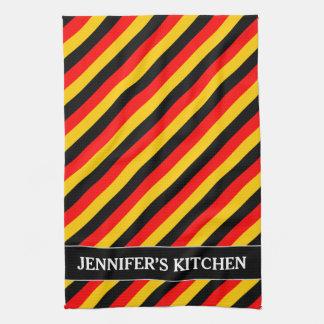 Paño De Cocina La bandera de Alemania inspiró el modelo coloreado