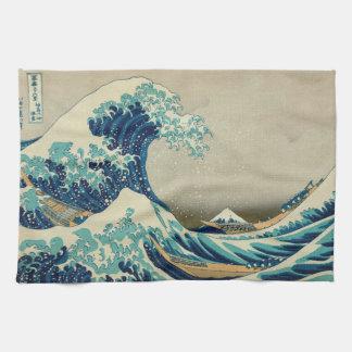 Paño De Cocina La gran onda de Kanagawa