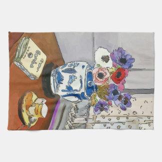 Paño De Cocina Libro del Gumbo, flores, florero, después de
