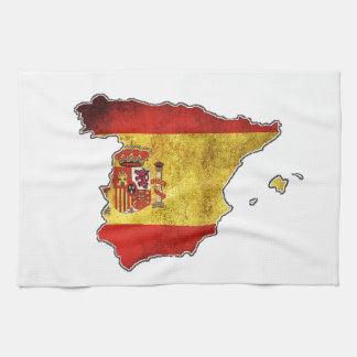 Paño De Cocina Mapa de la bandera de España