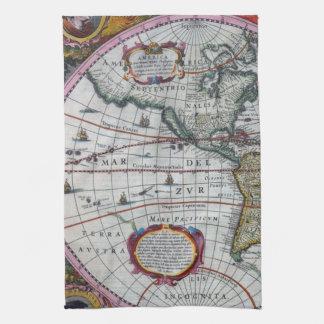Paño De Cocina Mapas viejos de América