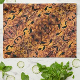 Paño De Cocina Modelo abstracto de la silueta de la hoja del