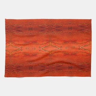 Paño De Cocina Modelo azteca anaranjado
