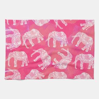 Paño De Cocina modelo floral tribal colorido rosado femenino del