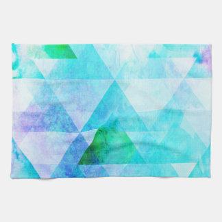 Paño De Cocina Modelo geométrico de la acuarela azul