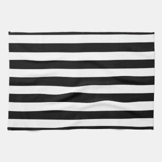 Paño De Cocina Modelo horizontal elegante blanco y negro de las