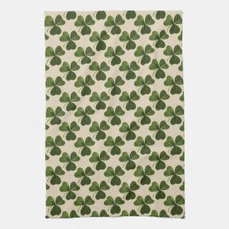 Paño De Cocina Modelo irlandés verde del trébol de la primavera