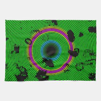 Paño De Cocina Modelo multicolor verde de la textura del disco