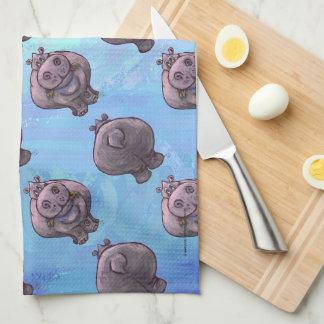 Paño De Cocina Modelos de cabezas y de las colas del Hippopotamus
