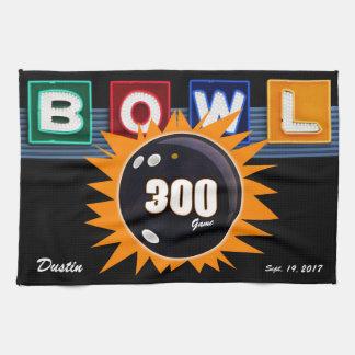 Paño De Cocina Naranja y negro de 300 juegos con la muestra de