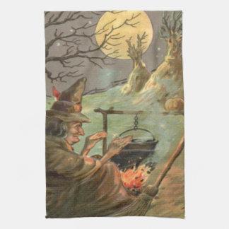 Paño De Cocina Noche de la Luna Llena de la caldera del fuego de