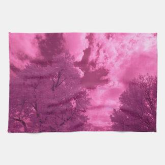 Paño De Cocina Nube rosácea del infrarrojo de las tonalidades