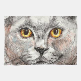 Paño De Cocina Ojos de un gato