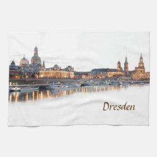 Paño De Cocina Opinión de la noche de Dresden Elba
