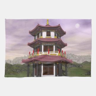 Paño De Cocina Pagoda en naturaleza - 3D rinden
