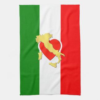 Paño De Cocina País del corazón de Tricolore de la bandera de