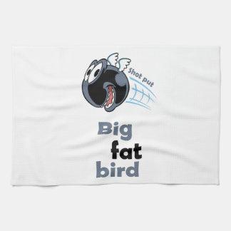 Paño De Cocina Pájaro lanzamiento de peso gordo grande