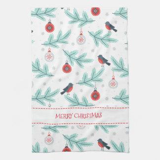 Paño De Cocina Pájaros de los ornamentos del navidad y modelo del