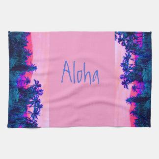 Paño De Cocina Palmeras hawaianas tropicales de Alhoa