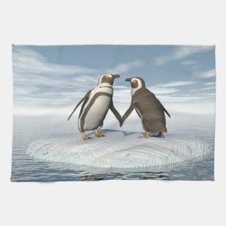Paño De Cocina Pares de los pingüinos