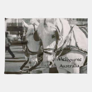 Paño De Cocina Paseo traído por caballo Melbourne, Australia del