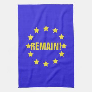 """Paño De Cocina """"Permanezca!"""" Bandera de la UE/toalla de té de"""