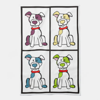 Paño De Cocina Perro lindo Dishtowel - Pitbull