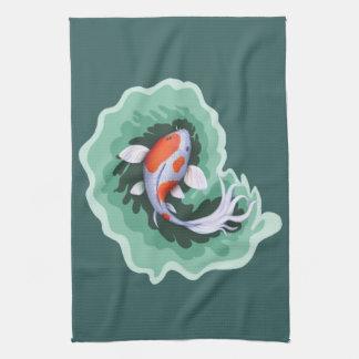 Paño De Cocina Pescados hermosos de Koi
