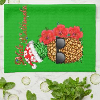 Paño De Cocina Piña del navidad de Mele Kalikimaka