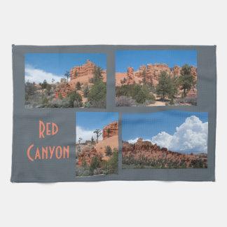 Paño De Cocina Plantilla roja de la foto de Utah del barranco