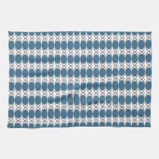 Paño De Cocina Plato-Toalla-MOD-Pavo real-Azul-Blanco