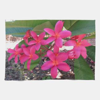Paño De Cocina Plumeria hawaiano