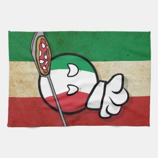 Paño De Cocina Polandball - Italyball que hacen la pizza