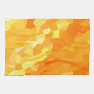 Paño De Cocina Puesta del sol amarilla y anaranjada retra del
